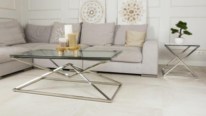 Stolik kawowy ława stół blat szkło hartowane zdjęcie 8