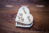 Pudełko w ksztaucie serca z grawerem - na magnes