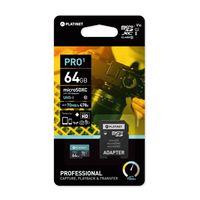 Karta pamięci microSDXC PRO 64GB class10 U1 70MB/s + adapter