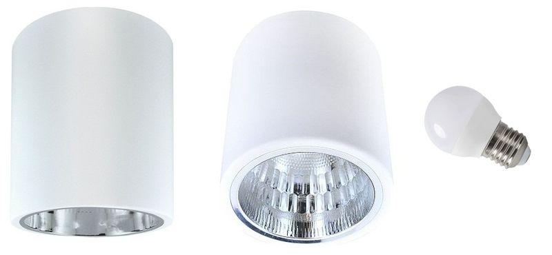 OPRAWA NATYNKOWA SUFITOWA E27 TUBA LAMPA PLAFON zdjęcie 1
