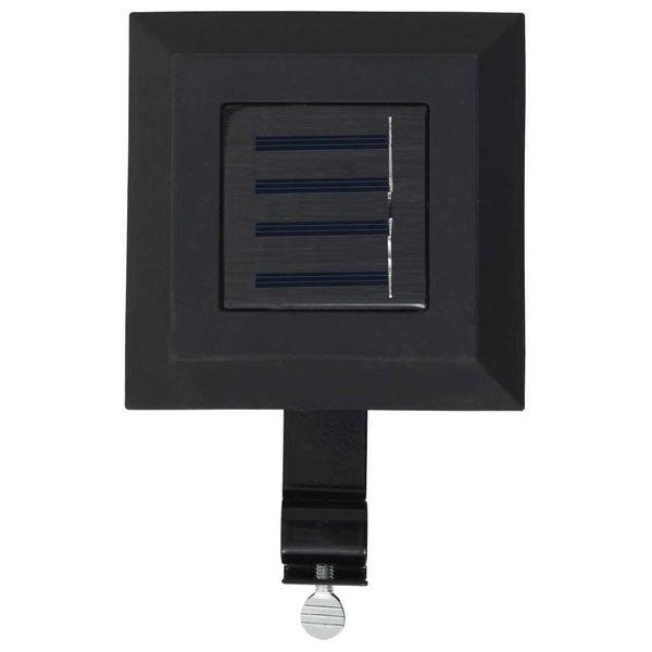 Kwadratowe Lampy Solarne Na Zewnątrz, 6 Szt, Led, 12 Cm, Czarne zdjęcie 5