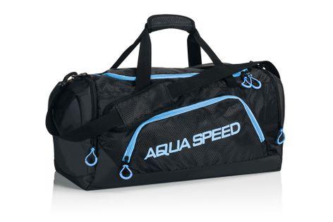 Torba sportowa AQUA-SPEED roz. M 48x25x29 cm Kolor - Akcesoria - Torba sportowa - 12 - czarny / niebieski