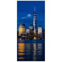 NAKLEJKA NA DRZWI  Nowy Jork nad rzeką Hudson 95x205