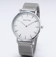 Zegarek premium GeekThink na srebrnej bransolecie