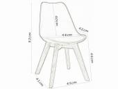 Skandynawskie krzesło CZARNE/BUK KRIS LUGANO TULIP poduszka CL001 dsw zdjęcie 2