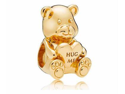 Pozłacany srebrny charms pandora pluszowy miś niedźwiadek bear serce heart srebro 925 QS0823