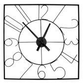 Zegar Ścienny Duży Metalowy 60 cm kwadrat