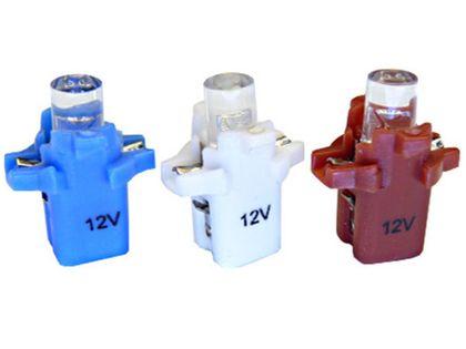 żarówka LED T5 w oprawie B8.7D do licznik zegar 12v KOLORY