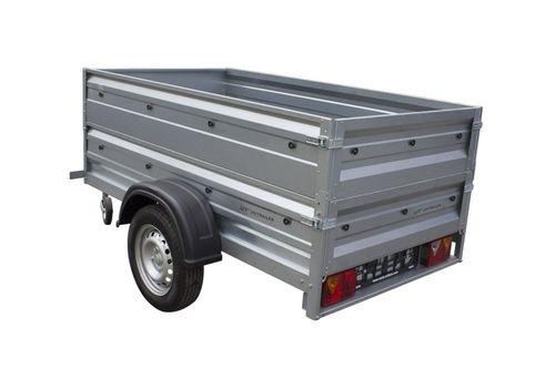 Przyczepa samochodowa 200 x 106 lekka z dodatkowymi burtami DMC 750 KG na Arena.pl