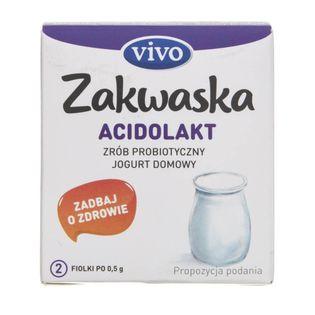 Vivo Zakwaska Acidolakt żywe kultury bakterii - 2 fiolki po 0,5 g