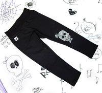 Rockowe czarne półśpiochy dziecięce Skull Boy Mia Rock 98