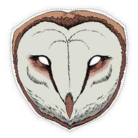 Maska papierowa SOWA sówka płomykówka SESJA strój