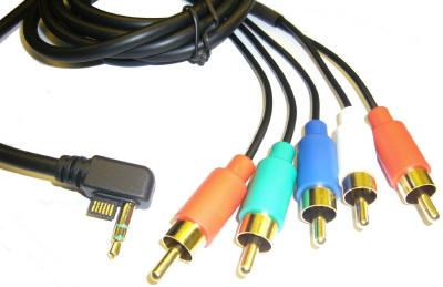 Solidny kabel Component PSP Slim HDTV AV + Dźwięk na Arena.pl