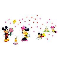 Naklejki na ścianę ścienne Myszka Mickey Minne WS-0163