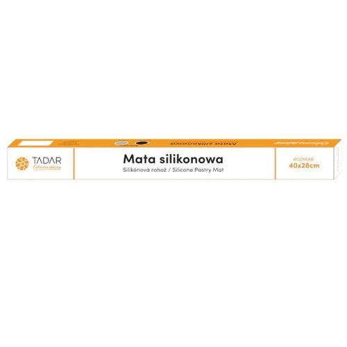 Stolnica Silikonowa 40X28Cm Mata Kuchenna Czarna Tadar Silico Td-0861 na Arena.pl