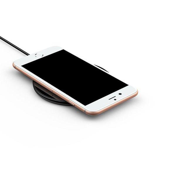 Baseus Simple - Bezprzewodowa ładowarka indukcyjna Qi do iPhone i Android 10W (czarny) zdjęcie 6