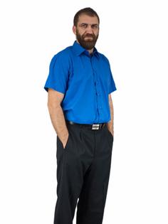 47/48 - 3XL/4XL Chabrowa bawełniana koszula męska duże rozmiary