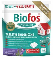 Tabletki szamb oczyszczalni BIOFOS 12+4 szt GRATIS