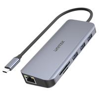 Unitek Hub USB-C 3xUSB 3.1 PD HDMI SD VGA RJ45