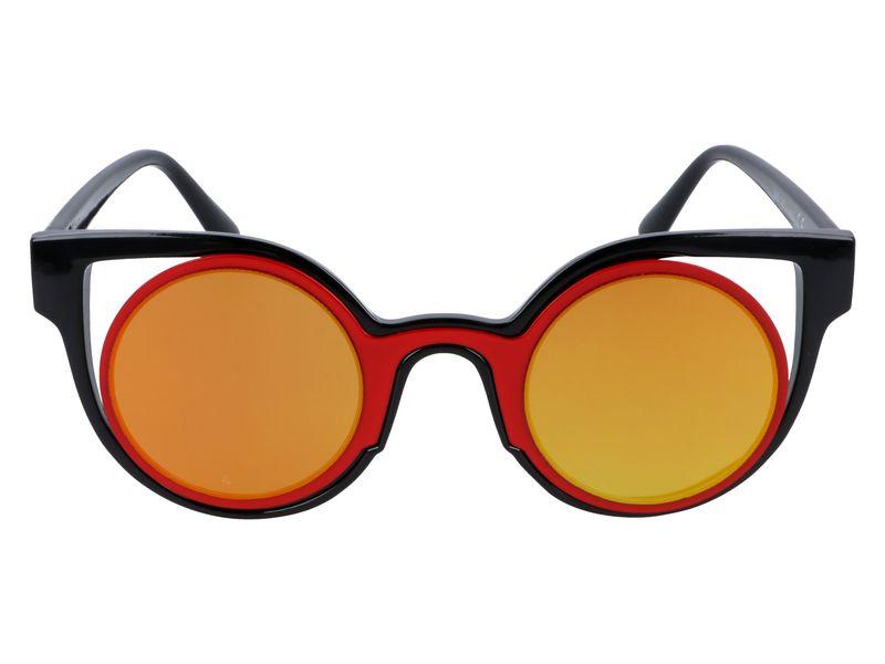 czerwone okulary cat eye lustra zdjęcie 4