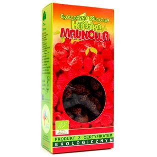 Herbata Malinowa Eko 80g Dary Natury