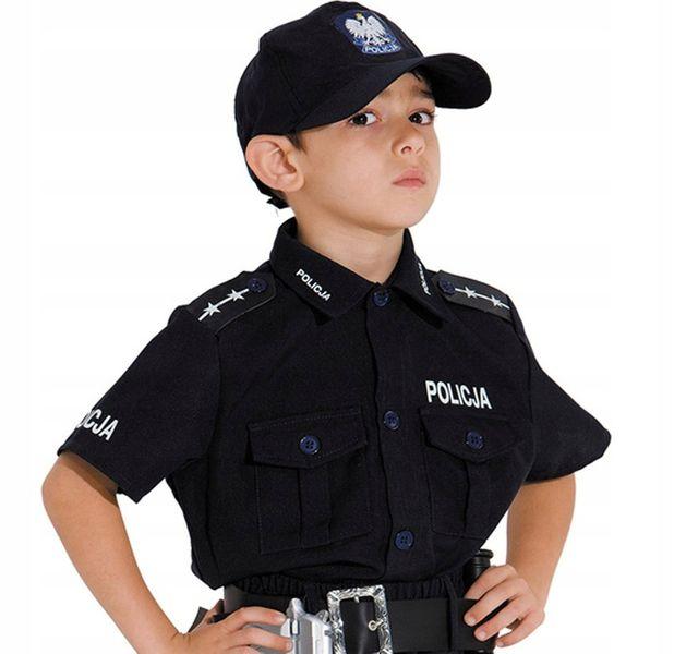 POLICJANT Polski Strój KARNAWAŁOWY 128 Kostium BAL zdjęcie 2
