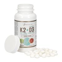 PROGRESS LABS NATURALNA WITAMINA K2 I D3 BEZ GMO! STAWY KOŚCI 120 TAB