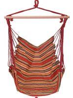 Krzesło brazylijskie ProGarden X28000100A czerwono-żółte hamak bujak siedzisko wiszące na taras i balkon