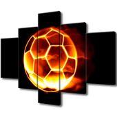Obraz Na Ścianę 100X70 Ognista Piłka Piłka Nożna