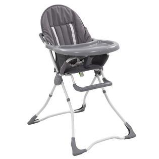 Krzesełko do karmienia dzieci, szaro-białe