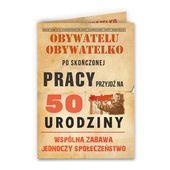 Zaproszenia na 50 urodziny w stylu PRL PRL-owskie