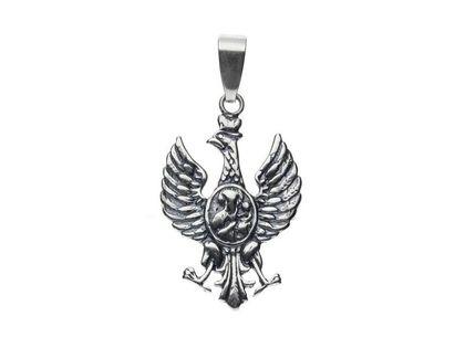 Srebrny wisiorek wisior patriotyczny Orzeł Żołnierzy Wyklętych srebro 925 CR004