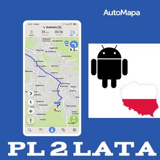 AutoMapa Polski licencja 2 lata - Android