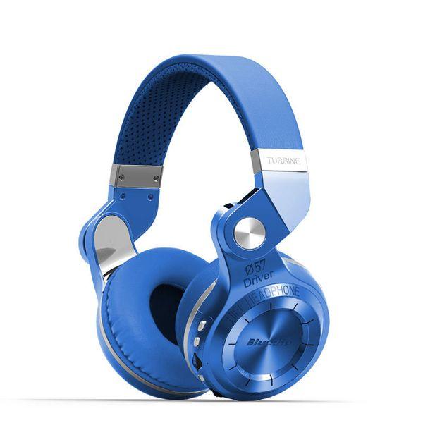 NIEBIESKIE słuchawki bezprzewodowe Bluetooth BLUEDIO T2+ zdjęcie 1