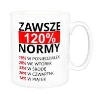 Kubek Przodownika Pracy - prezent, 120% normy jak PRL