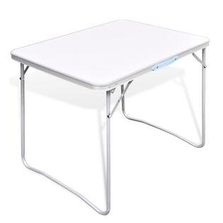 Składany stół kempingowy z metalową ramą 80 x 60 cm GXP-680211