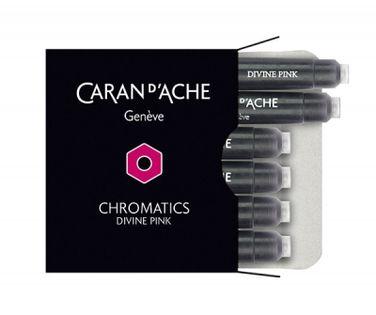 Naboje Caran D'ache Chromatics Divine Pink, 6Szt., Różowe