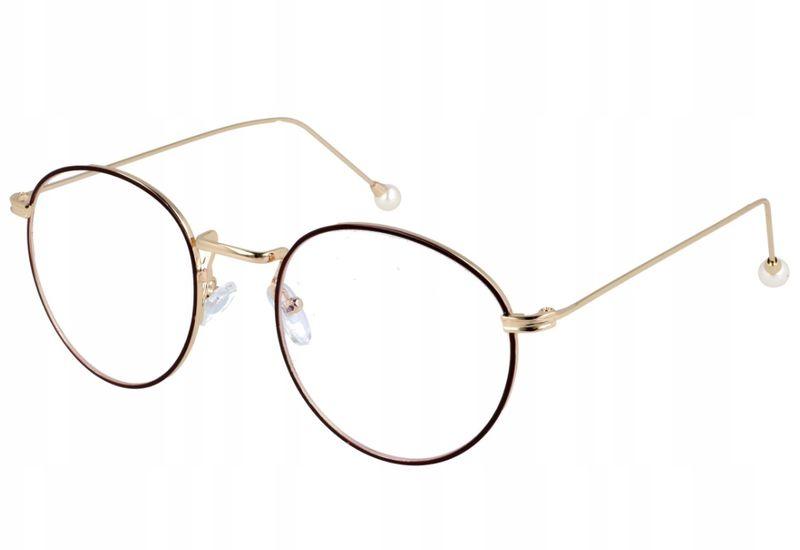 393a986927dd6 Okrągłe okulary damskie zerówki z antyrefleksem • Arena.pl