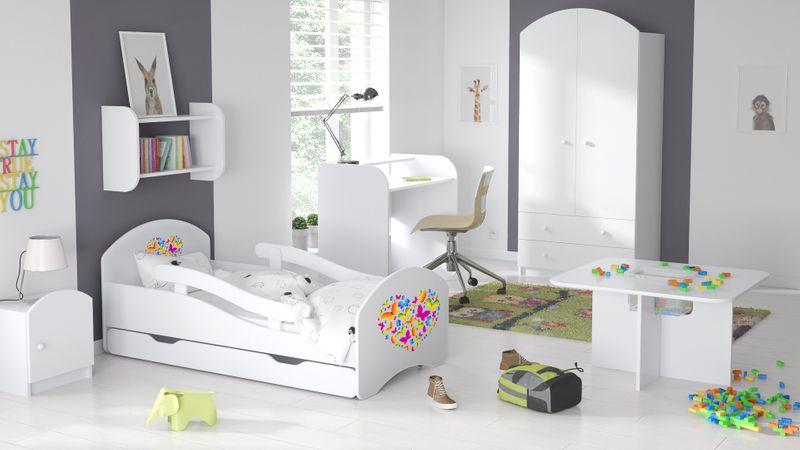 Łóżko dziecięce łóżeczko 140x70 białe szuflada materac dla dziecka zdjęcie 14