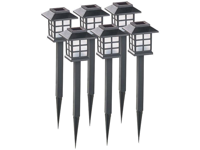 """Lampy ogrodowe solarne 6 sztuk Lunartec """"Asian"""" zdjęcie 1"""