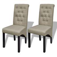 Krzesła stołowe 2 szt. beżowe tkanina VidaXL