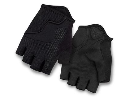 Rękawiczki juniorskie GIRO BRAVO JR krótki palec mono black roz. M (obwód dłoni 152-162 mm / dł. dłoni 160-165 mm) (NEW)