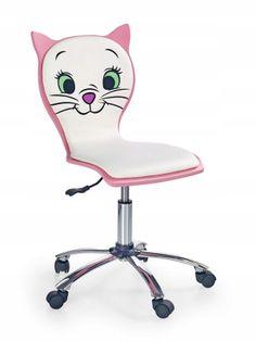 Fotel do biurka KITTY2 dla dziecka RÓŻOWY obrotowy