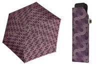 Lekka wytrzymała płaska parasolka Doppler Carbonsteel, fioletowa w okręgi