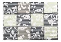 Mata łazienkowa antypoślizgowa SLOANE 65 x 45 cm pianka PVC wz. 2 kwadraty szary taupe zielony groszkowy