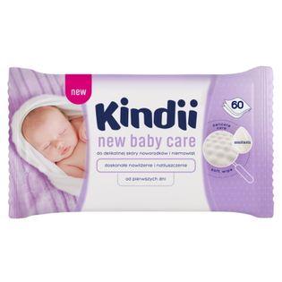 CLEANIC Kindii New Baby Care 60szt - chusteczki dla niemowląt
