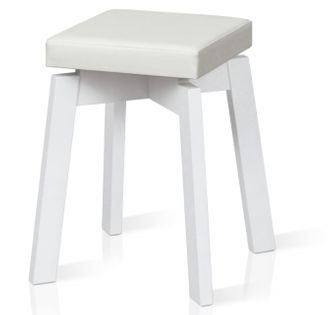 TABORET ORION ERGO stołek do kuchni restauracji baru BIAŁY ECO SKÓRA