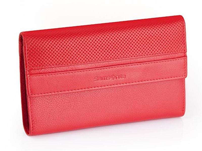 5cb50a0ae8114 Klasyczny skórzany portfel damski Samsonite