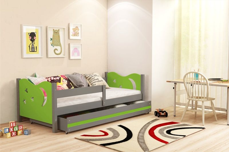 Łóżko łóżka Mikołaj dziecięce 160x80 parterowe + SZUFLADA zdjęcie 11