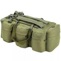 Torba wojskowa 3w1, worek w stylu militarnym, 120 L, oliwkowa